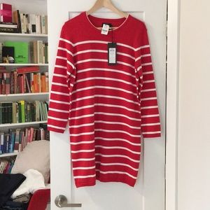 ONLY Striped Red and White Dress